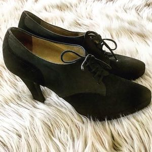 YSL Yves Saint Laurent Lace Up Booties 8
